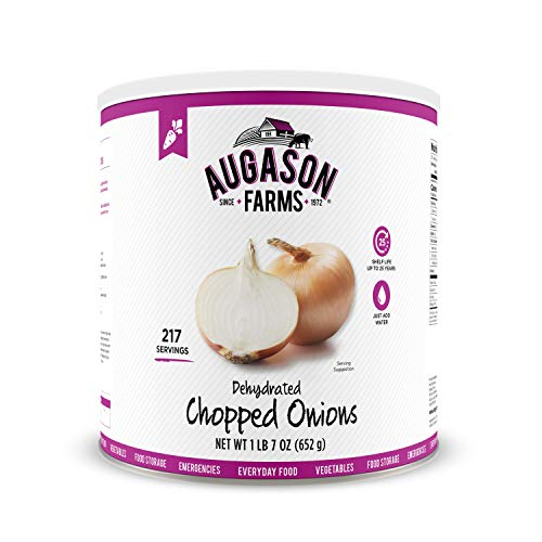 - Augason Farms Dehydrated Chopped Onions 1 lb 7 oz No. 10 Can