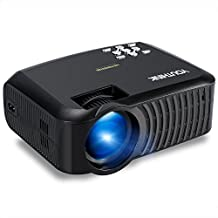 2000 Lumens LCD Mini Video Projector Support 1080P Portable LED Projector for PC Laptop iPhone Smartphone, Ideal for Home Cinema Theater, Full HD Game and Outdoor Movie Night with HDMI Cord (Black)