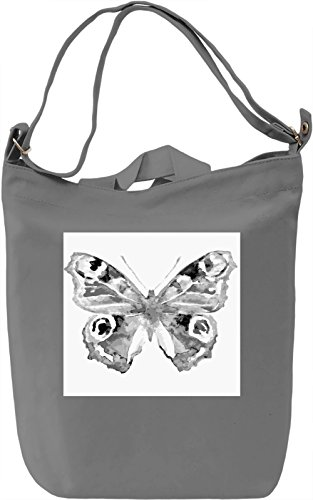 Black and White Butterfly Borsa Giornaliera Canvas Canvas Day Bag| 100% Premium Cotton Canvas| DTG Printing|
