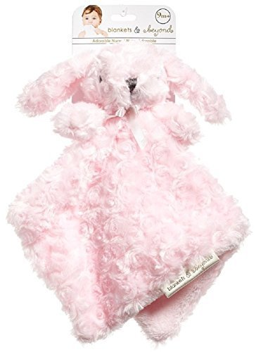 Blankets and Beyond Pink Rosette Bunny Nunu Baby Security Blanket