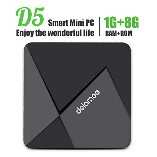 Android 5.1 Smart Box Dolamee Rockchip RK3229 Quad-core Cortex A7 1.5GHz 1GB 8GB With Lan Wifi True 4K Playing