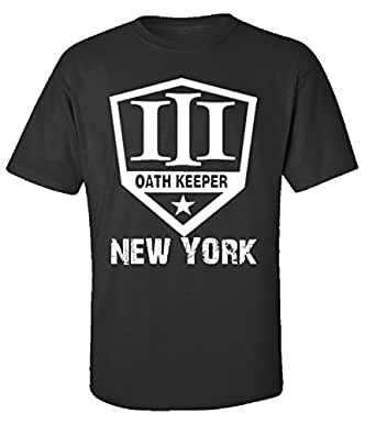 three percenter new york three percenter oath keeper adult shirt clothing. Black Bedroom Furniture Sets. Home Design Ideas