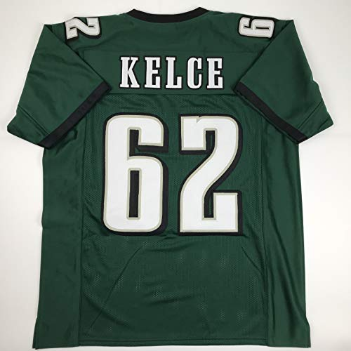 Unsigned Jason Kelce Philadelphia Green Custom Stitched Football Jersey Size XL New No Brands/Logos (Jersey Eagles Signed Green)