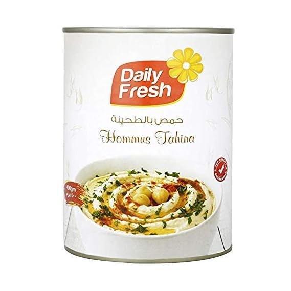 AT7 Daily Fresh Hommus Tahina, Hummus, 400 GM (Product of UAE )