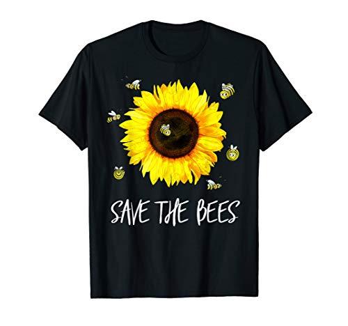 Save The Bees Shirt Sunflower Save Animals Tshirt