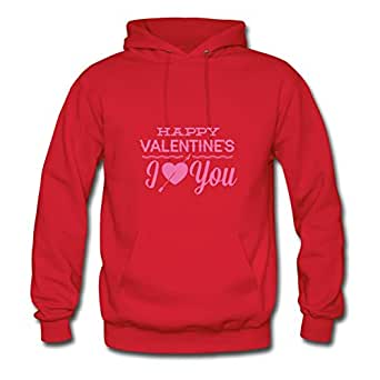Happy Valentine's Hot X-large Sweatshirts Custom For Women Red