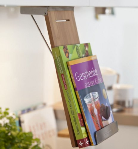 Kochbuchhalter Buchständer Kochbuchständer Buchstütze Bambus CAPTAIN COOK