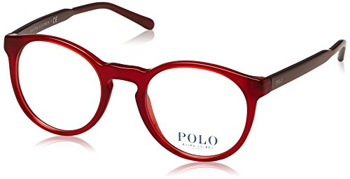 Polo Ralph Lauren - PH 2157, Rondes, acétate, homme, SHINY RED(5458 A), 47/20/140