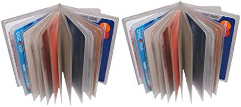 Men's Trifold Wallet Clear Plastic Inserts 2.75'' X 3.75'' Set of 2 of 12 Page