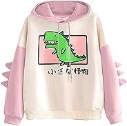 Tophoopp Hoodies for Women, Womens Lightweight Cute Frog Hoodie Shirts Color Drawstring Pullover Cartoon Top S