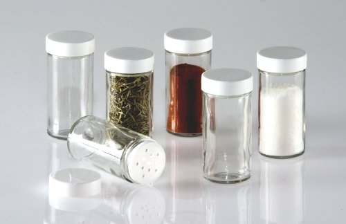 Glass Spice Jars Set Bottles