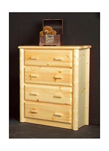Northwoods 4 Drawer Log Chest (Clear)