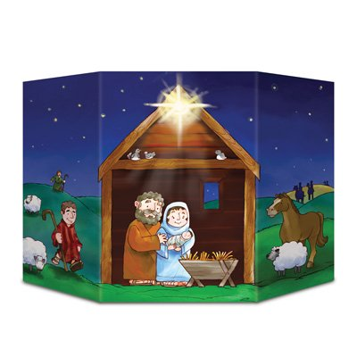 Beistle 1-Pack Nativity Stand-Up, 3-Feet 1-Inch by 25-Inch ()