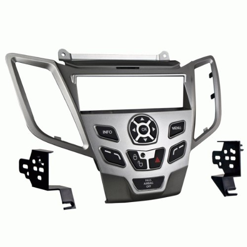 Ford Fiesta 2014-2015 Single DIN Stereo Harness Radio Install Dash Kit Silver by Harmony Audio (Image #1)