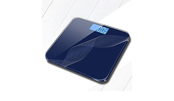 DWW-escala de peso Báscula de pesas recargable USB salud domiciliaria adultos Alta precisión Pantalla digital extragrande Báscula digital (Color : Azul) : ...