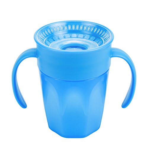 Training 7 Cup Ounce - Dr. Brown's Cheers 360 Spoutless Training Cup, 6m+, 7 Ounce, Blue