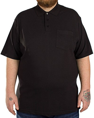 Bigdude Herren Poloshirt schwarz schwarz XXX-Large