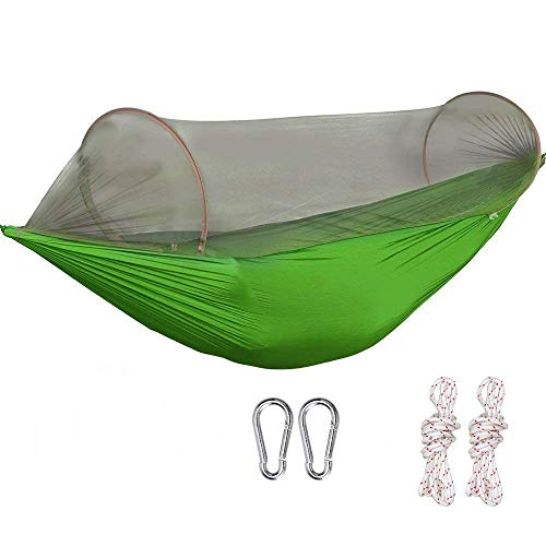G4Free Portable Camping Hammock Net Hammock Tent Capacity 400 Pounds Outdoor Foldable Tree Hammock(110x50 inch)(Green)