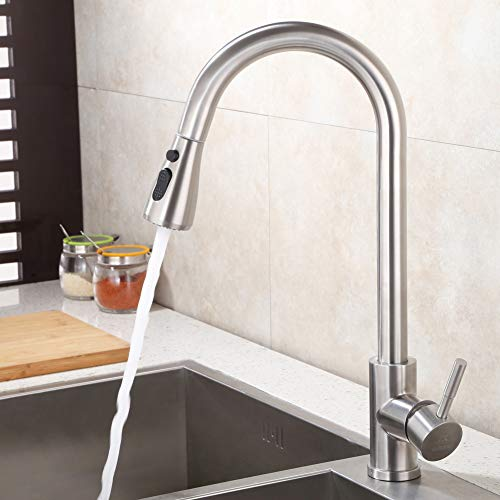 Pull Down Faucet Spray Head Angle Simple Kitchen Sink Faucet