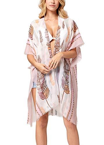 Swimsuit Cover ups for Women - Beach Kimono for Swimwear Bikini Bathing Suits Summer Coverup Dresses - Palm Island