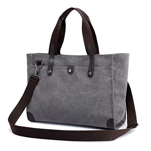 135 DRF Handbag Extra BG Canvas Tote Travel Shopping Hobo Women's Blue Grey Vintage Large Bag fAfpS