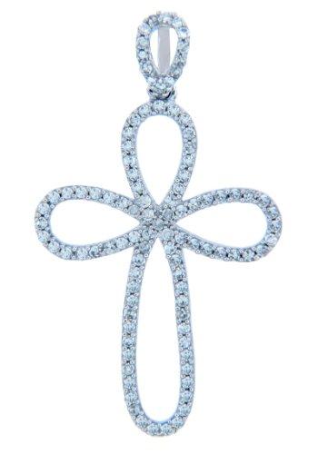 Petits Merveilles D'amour - 10 ct 471/1000 de diamants en Or Boucle Croix Avec Pendentif