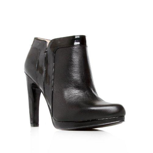 NINE WEST KURT GIEGER WomenBESTTHING s, schwarz, im Leder Look, Ankle Stiefel Zip SIZE 7 UK
