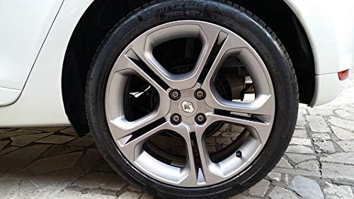 Noir Renault 4 x 57 mm Roue Alliage Centre Caps Hub Megane Laguna Clio Twingo