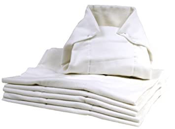 Pañales lavables Pre-plegadas, White