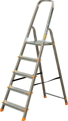 Escalera de pintor de aluminio, multiusos, de 5 peldaños/120: Amazon.es: Bricolaje y herramientas