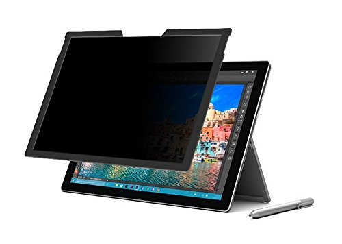 Surf Secure Magnetic Privacy Screen - Compatible with Surface Pro 4, Surface Pro 5 and Surface Pro 6 with 2 Way View Protection + Free Bonus Leather Sleeve ()