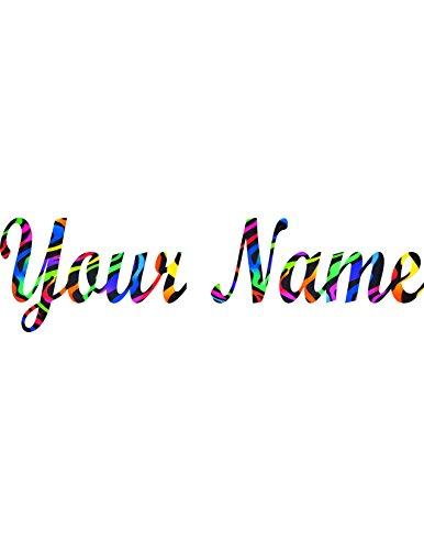Your Name in Tie Dye Zebra (Tie Dye Zebra)