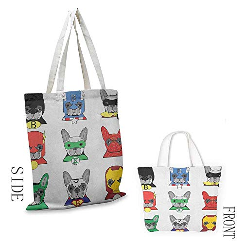 Shopping work bag Superhero Bulldog Superheroes Fun Cartoon