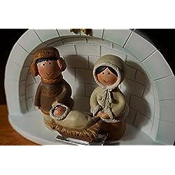 Arctic Nativity Eskimo Igloo Alaska Christmas Holiday Home Figurine Decor
