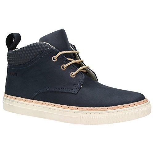 Zweigut Hamburg- Komood #301 Herren High-Top Leder Sneaker Halbschuhe Marineblau