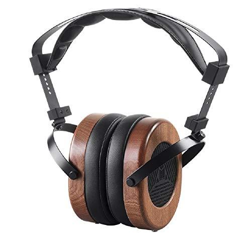 Monolith M565 Over Ear Planar Magnetic Headphones - Black/Wood With 66mm Driver, Open Back Design, Removable Comfort Earpads For Studio/Professional