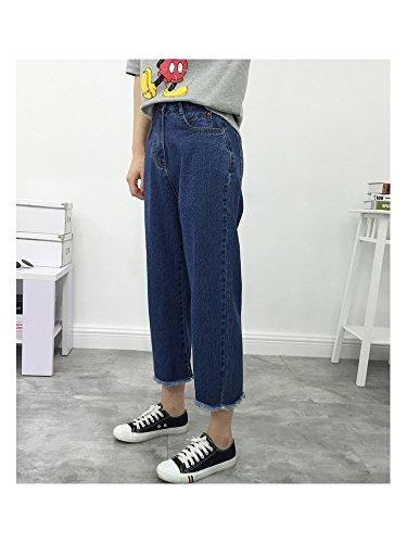 Blue Basic Jeans Pantalone Dark Capri Donna Ochenta 6882 Sv0qw