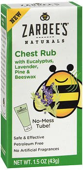 Zarbee's Naturals Chest Rub - 1.5 oz, Pack of 4