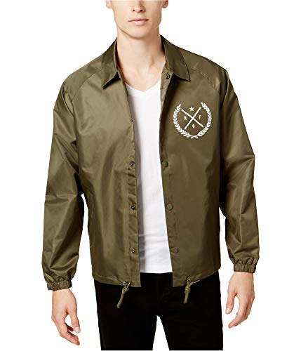 - Ring Of Fire Mens Coach's Jacket Green XL