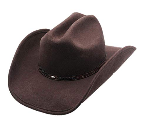 Men's Wool Cowboy Hat Cody Brown Shapeable Western Felt Hats By Silver Canyon