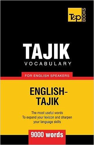 tajik english vocabraly