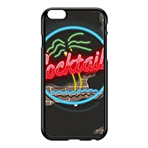 80s Neon cocktails sign Black Hard Plastic Case for iPhone 6 Plus by Nick Greenaway + FREE Crystal Clear Screen Protector