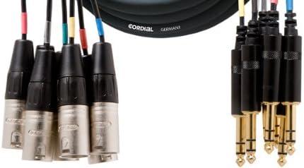 CORDIAL Multipair 8 XLR m/ännlich//weiblich 3 m