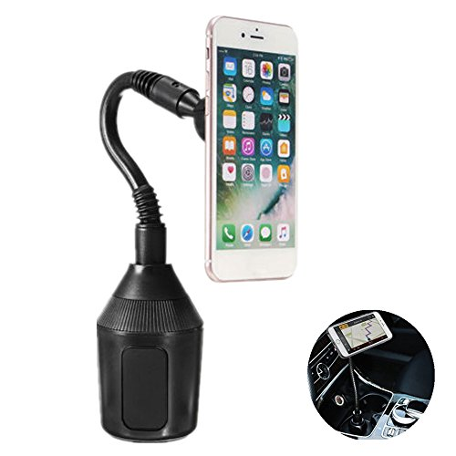 Price comparison product image Car Cup Holder, Leagway Magnetic Cup Holder Phone Cradle Mount for iPhone X 8 8+ 7 7 Plus 6S 6 Plus 5S, Samsung Galaxy S8 S7 S6 Edge S5 Note 7 8 5, Nexus 5/4 Most Cell Phone Smartphone, Tablet and GPS