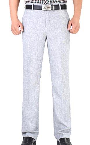 Fseason-Men Adult Straight Leg High Waist Wrinkle-Free Dress Pant 7 30 ()