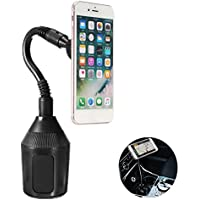 Car Cup Holder, Leagway Magnetic Cup Holder Phone Cradle Mount for iPhone X 8 8+ 7 7 Plus 6S 6 Plus 5S, Samsung Galaxy S8 S7 S6 Edge S5 Note 7 8 5, Nexus 5/4 Most Cell Phone Smartphone, Tablet and GPS