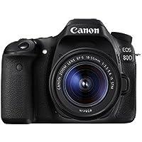 Canon EOS 80D Digital SLR Kit with EF-S 18-55mm f/3.5-5.6 Image Stabilization STM Lens (Black) (International Model) No Warranty Overview Review Image