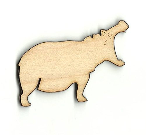 Hippo - Laser Cut Unfinished Wood Shape HIP3