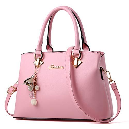 Pink Satchel Handbags - 8