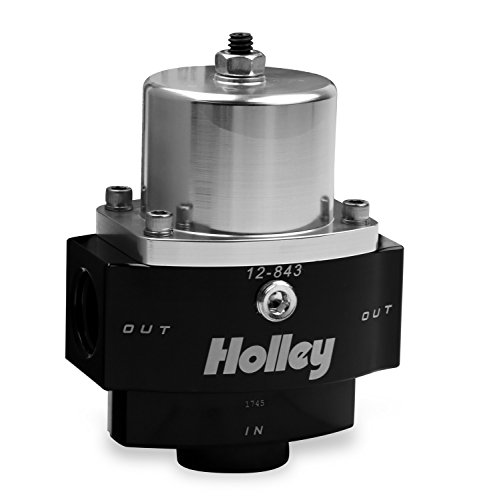 Holley 12-843 10AN Inlet / 2 x 8AN Outlet 4.5-9 PSI Adjustable Billet Fuel Pressure Regulator